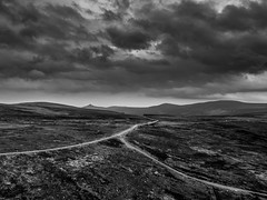 The gap (Gullivers adventures) Tags: sally ireland blackandwhite clouds way fly blackwhite ancient mood moody country gap wicklow éire blancoynegro flickr blackywhite