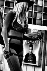 Welcome to Fabulous Las Vegas - 14 of 21 (draketoulouse) Tags: las vegas lasvegas city strip boulevard street streetphotography monochrome contrast woman cop magic