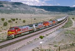 ATSF 805 West at Grants, NM (thechief500) Tags: atsf bnsf gallupsubdivision railroads grants nm usa santaferailway newmexico