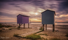 Osea Buach huts (Simon Rich Photography) Tags: osea beach huts haybridge basin essex sun sunset coast tide colours landscape seascape simonrich simonrichphotography mrmonts canon