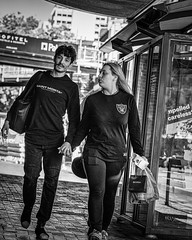 Hand in hand (Chris (a.k.a. MoiVous)) Tags: streetphotography adelaidecbd streetlife commuters