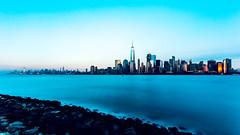 New Jersey Long Exposure #4 - Jersey City, New Jersey, 2016 (smithat) Tags: jerseycity newjersey unitedstates manhattan oneworldtrade longexposure night light