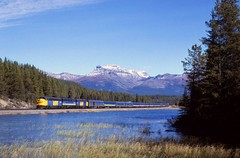 VIA Stephen,AB (larryzeutschel) Tags: via the canadian cp pacific railroad rockies