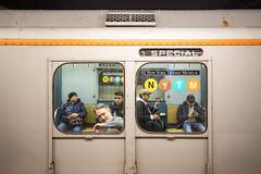 R7A Car 1575 (wanderinginsomnia) Tags: usa manhattan holidaytrain nostalgiatrain newyork americancarandfoundrycompany r7a subway newyorkcity newyorktransitmuseum