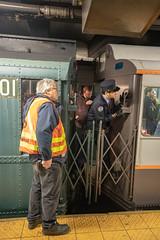 Holiday Nostalgia Train Operator (wanderinginsomnia) Tags: newyorkcity newyorktransitmuseum usa subway nostalgiatrain manhattan newyork holidaytrain
