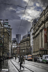Impending wet stuff (tootdood) Tags: canon6dmkii manchester cross street impending wet stff rain dark clouds candid