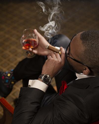 Blue Train - Smoking Cigars in the Smoking Lounge Bar Car