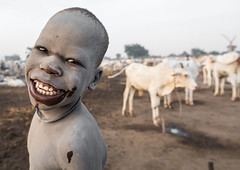 The Joker boy in Mundari tribe, South Sudan (Eric Lafforgue) Tags: africa animals ash ashes boys camp cattle centralequatoria child children closeup colourimage copyspace cows dailylife day domesticanimals eastcentralafrica flies headshot herd herder horizontal horns indigenousculture livestock longhorns lookingatcamera malaria mosquitoes mundari oneboyonly oneperson outdoors pastoralist portrait protection ruralscene smile smiling southsudan ssdn1724 terekeka travel tribal tribe waistup