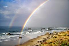 What Rain Brings (Gary Grossman) Tags: bandon oregon rainbow ocean fall autumn rain clouds landscape seascape pacific coast shore beach gorse natue scenic garygrossman garygrossmanphotography pacificnorthwest oregonisbeautiful landscapephotography doublerainbow