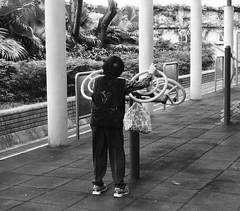 Tai Chi Wheels, Happy Valley Recreation Corner (Miranda Ruiter) Tags: hongkong photography streetphotography hongkongisland taichi taichiwheels happyvalley recreationcorner fitness blackandwhite
