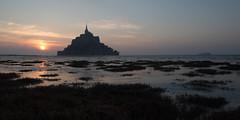 High tide (Michel Couprie) Tags: europe france normandy normandie sea seascape seaside mer maréehaute hightide montsaintmichel sunset coucherdesoleil reflect reflet reflection canon eos couprie heurebleue bluehour