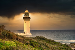 Storm Over Norah Head Lighthouse (David Hamments) Tags: lighthouse norahhead sunset stormclouds nsw