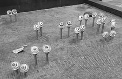 ''Night Watch'' by WOKmedia (Miranda Ruiter) Tags: sculpture art kunst publicart photography streetphotography hongkong shatin blackandwhite nightwatch wokmedia eyes