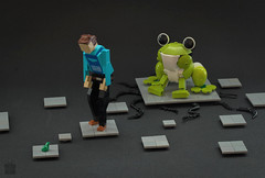 Where`s your mother, little one? (Tino Poutiainen) Tags: lego moc animal plastic infinity secret santa christmas character frog model gift legomoc legography bionicle