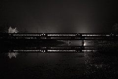 Passenger Train (a409will) Tags: night river bnw reflection train railroad