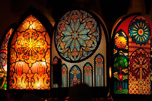 Candlelight inside