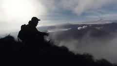 Mt. Bromo peaking trough the clouds. (aantwaarpe) Tags: groen