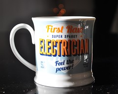 """""""Mugs With Words"""" - Smile on Saturday! :-) (Hoglands) Tags: mugswithwords smileonsaturday mug drink cup electric electrician"""