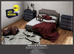 {YD} Snuggle in Winter ({Your Dreams}) Tags: happyweekend cozy winter cosy bed bedpgadult bedroom sl secondlife furniture furnituresl vendor christmas 100meshexclusive mesh100original