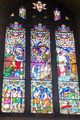 Stained Glass Window (RobW_) Tags: stained glass window st marys church chilham kent england tuesday 05nov2019 november 2019