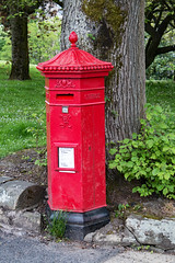 Photo of Victorian hexagonal pillar box