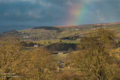 Dramatic light and rainbow over Eggleston from Folly Top Dec 2019 (Richard Laidler) Tags: bright darkclouds darksky dramaticlight eggleston farmland farms follytop hillfarms hills hillside landscape lowerteesdale northeastengland rainbow rural sunlight sunny sunshine teesdale teesdalelandscape winter