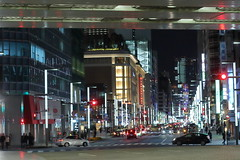 Nihonbashi,Tokyo (seiji2012) Tags: japan tokyo nihonbashi night traffic reflection street 日本橋 夜景
