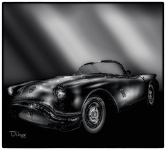Oldsmobile concept car (Dennis Herzog) Tags: cars autosd auyomobiles classiccars blackandwhite monochrome museums gatewayautomuseum gatewaycolorado colorado oldsmobile transportation