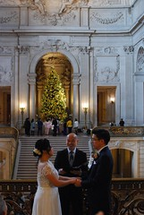 Husband and Wife (mahteetagong) Tags: sanfrancisco cityhall architecture wedding baroque nikon d80 35mmf18 ceremony mezzanine