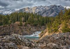 Double Banff Cascades (Phil's Pixels) Tags: cascademountain stoneychief peak bowfalls bowriver bowcascade cascades bowfallstrail banff alberta canada