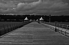Bangor Pier (shanahands2) Tags: fencedfriday bangorpier bw