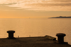 Portencross Peir looking over to Little Cumbrae (Briantc) Tags: scotland ayrshire northayrshire portencross westkilbride firthofclyde clyde bollards