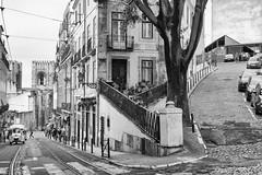 Lisbon (Laszlo Horvath.) Tags: lisbon lisboa lisszabon portugalia nikond7100 sigma1835mmf18art monochrome blackandwhite blackwhite bw city streetphotography streets