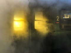 Xmas Steam Express 05 (memories-in-motion) Tags: munich steam engine dampflok santa claus xmas express travel vintage event technology analog apple iphone 8plus railway raucher
