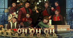 ♥ My Family (Quistis Shippe) Tags: animations christmas diversion exile forthefirsttime hair holidaydelightsposes holidayspiritposes holidays love mesh myfamily mygiftposes pose prop secondlife singleposepack updo