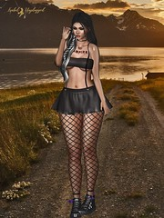 ☆ POST #1017: Lilu.   Lilu. (Isabel Unplugged) Tags: thedarknessmonthlyevent nefekalumtattoos togstore™ event exclusive desing style food tattoo outfit secondlife