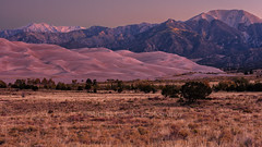 Dawn At Great Sand Dunes (chasingthelight10) Tags: events photography travel landscapes deserts dunes mountains nightphotography highdesert places colorado greatsanddunesnationalpark