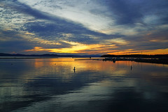 Stunning reflection in the Lake Champlain at sunset, Vermont (Andrey Sulitskiy) Tags: vermont champlain burlington usa
