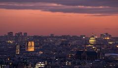 Panorama (second.paul) Tags: paris parisian sunset sky rooftops france urban sacrecoeur church architecture europe sun cloud parisien capital city toitsdeparis cityscape notredame panorama pantheon