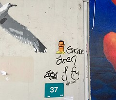 Nute (December 2019) (svennevenn) Tags: bergen streetart gatekunst pasteups viceroynute nute