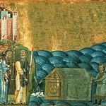 08 Кирилл и Мефодий обретеают мощи Климента Римского. Менологий Василия II, XI в