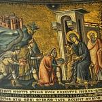 22а Пьетро Каваллини, Поклонение валхвов Мозаика ц.Санта-Мария ин Трастевере, XIIIв