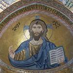 25 Византийские мастера. Пантократор. Мозаика собора в Чефалу. Сицилия 1145-48
