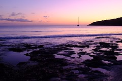 Salinas Ibiza (LorenzoGiunchi) Tags: boats reflection sunset clouds sky sea beach ibiza