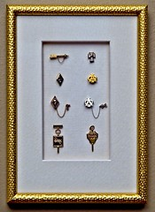 """Gold and Silver...Fill the frame (Jack Blackstone) Tags: hoosiers """"hoosierstate"""" tradition em1mkii crazytuesday goldorsilver college indianauniversity greek fraternity sorority honorary sae alphaphi sigmachi pibetaphi alphaomegaalpha phibetakappa frame framed display montage jewelry pins academic"""