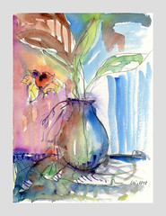'make a rainbow over me' (w_lei) Tags: skizze sketch croquis aquarelle aquarell watercolor abstract abstrakt