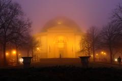 St. Ludwig - Darmstadt (ivlys) Tags: darmstadt stludwig kirche church katholisch catholic abend evening nebel fog ivlys