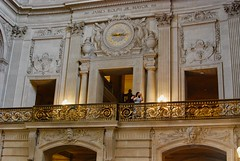 Mezzanine and Clock (mahteetagong) Tags: sanfrancisco cityhall architecture wedding baroque nikon d80 35mmf18 mezzanine clock