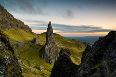 North from the Storr (Jon_Douglas) Tags: oldmanofstorr storr pinnacle skye isle island hebrides scotland highlands trotternishridge dawn sunrise sea water