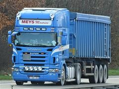 Scania R500 topline from Meys Maurice Belgium. (capelleaandenijssel) Tags: 1uac364 truck trailer lorry camion lkw